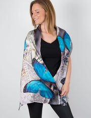 Image showing a silk scarf with a Butterfly Print