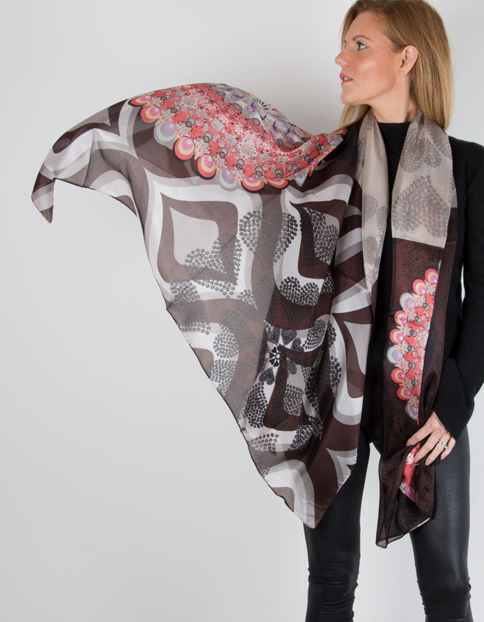 Image showing a silk scarf hearts