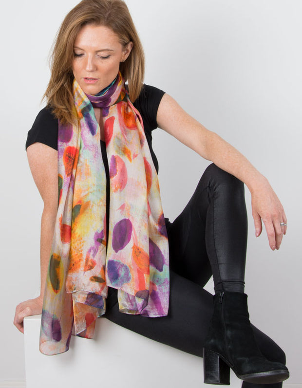 Image showing a Silk Scarf Multicoloured Graphic