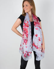 Image showing a silk scarf petal print