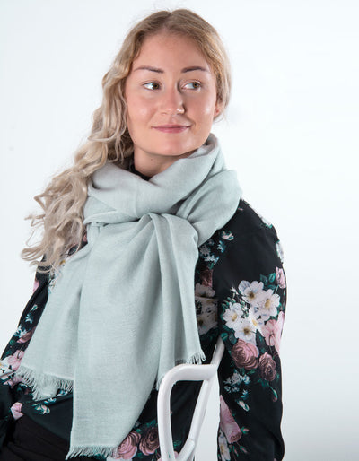 Pale Grey Cashmere Scarf