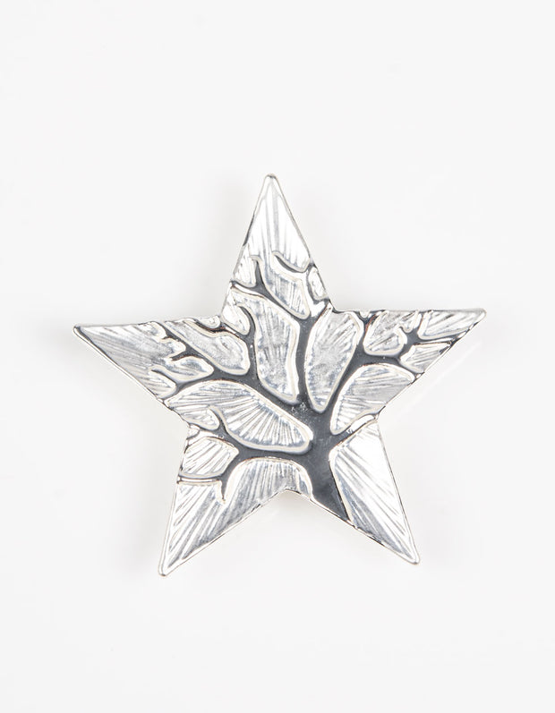 Brooch | Star Tree of Life | Silver White