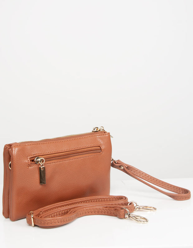 Tan Clutch Bag | Toni