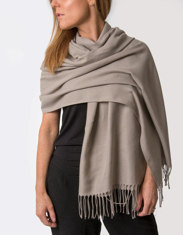 an image showing a taupe coloured pashmina
