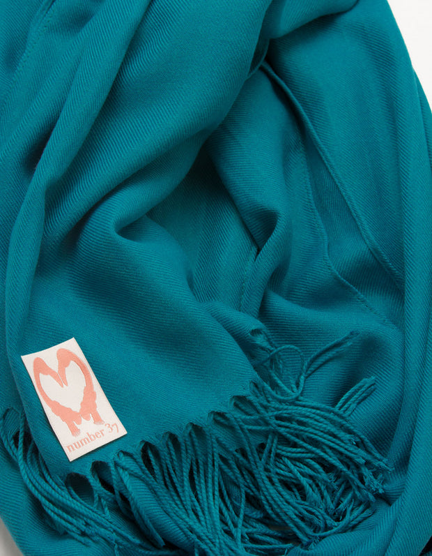 Teal Wedding Pashmina