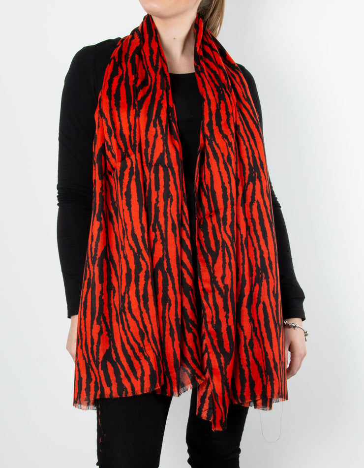 Tiger Scarf | Red