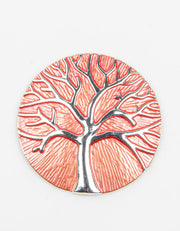 Brooch | Tree of Life | Coral