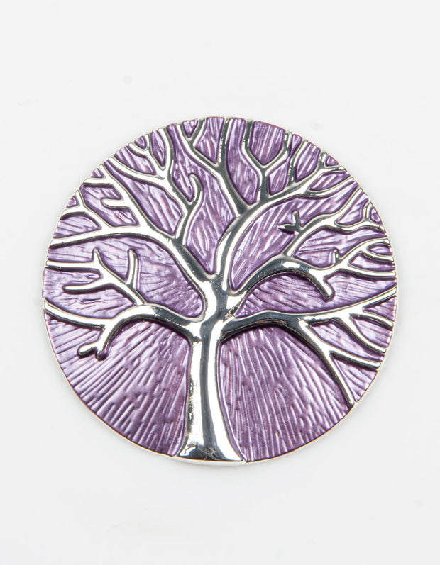Brooch | Tree of Life | Purple
