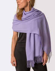 an image showing a violet purple pashmina