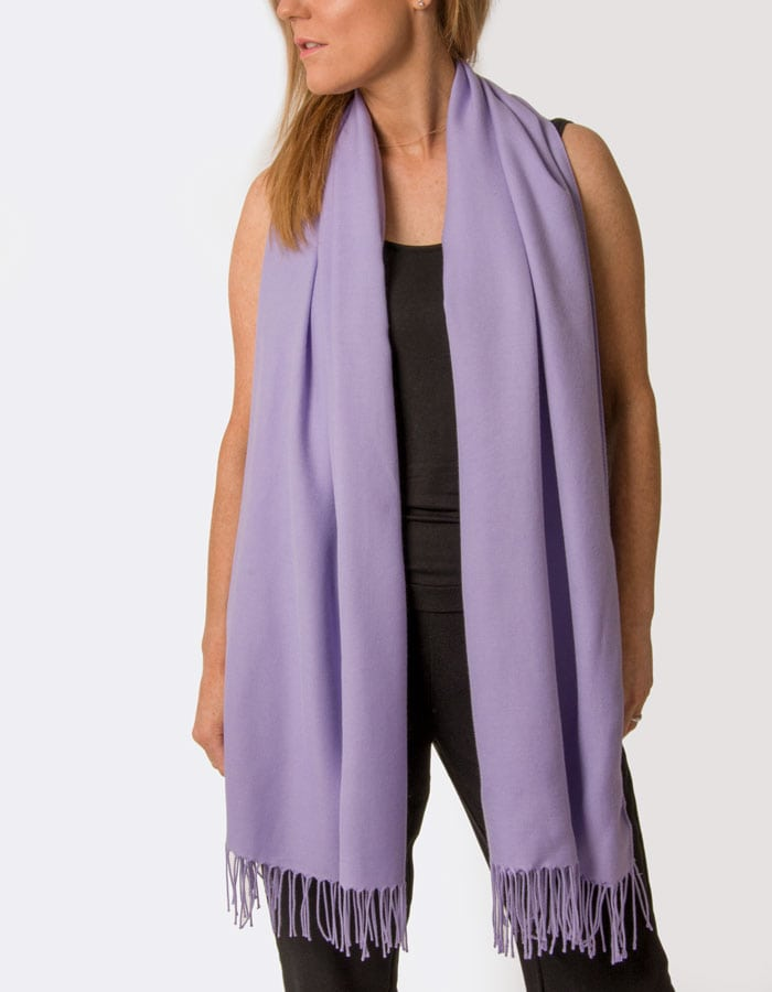an image showing a violet pashmina