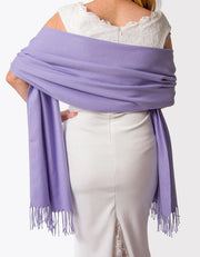 Violet Purple Wedding Pashmina