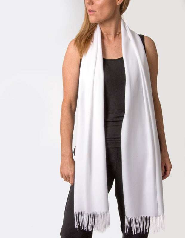 an image showing a white pashmina
