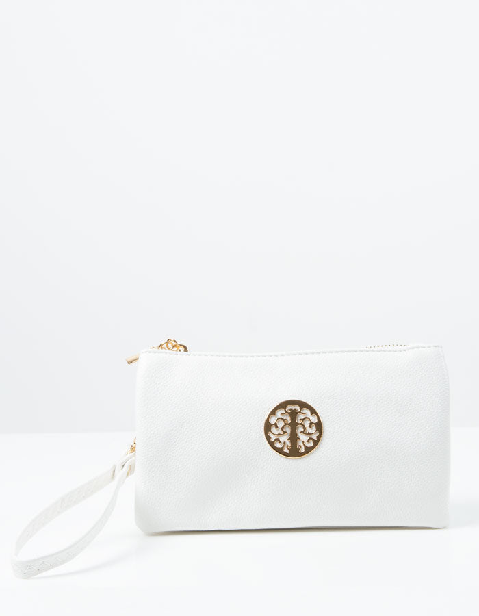 an image showing a White Clutch Bag