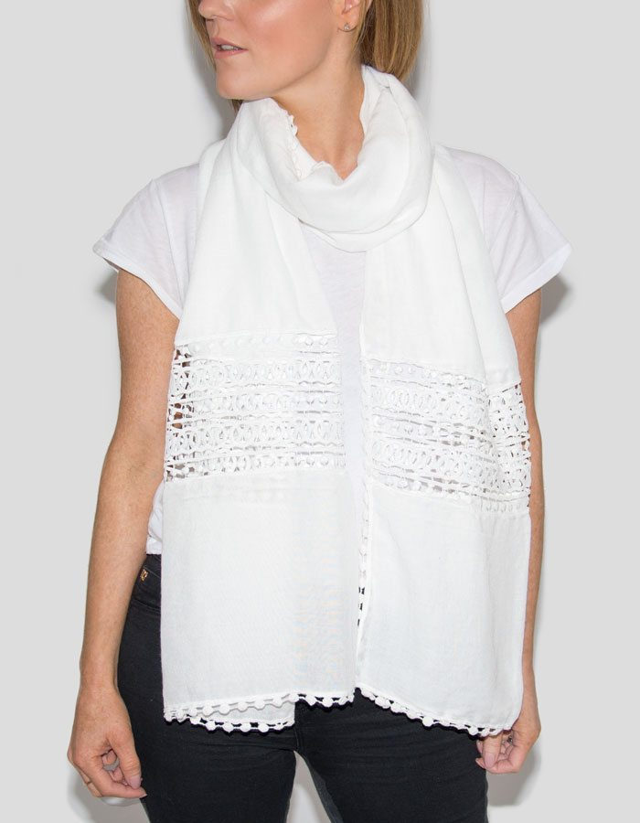 Image Showing a White Scarf