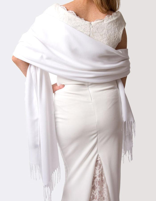 White Wedding Pashmina