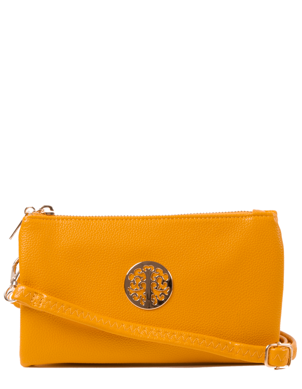 Amber Yellow Clutch Bag | Toni