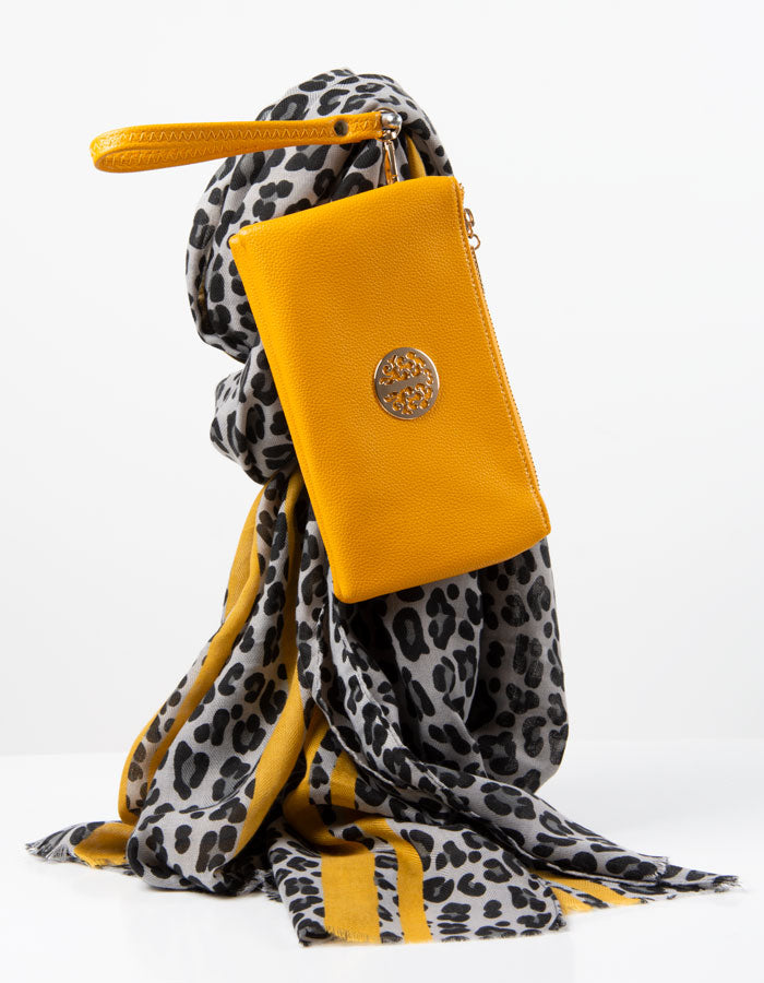 Amber Yellow Clutch Bag