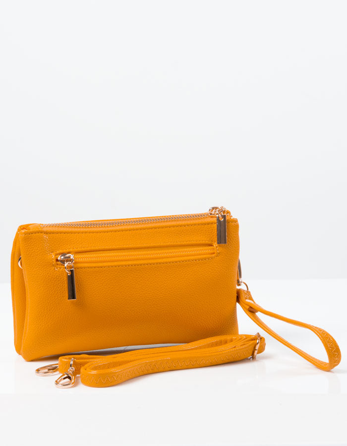 an image showing a Amber Yellow Clutch Bag