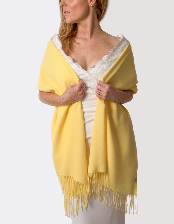 Bright Yellow Wedding Pashmina
