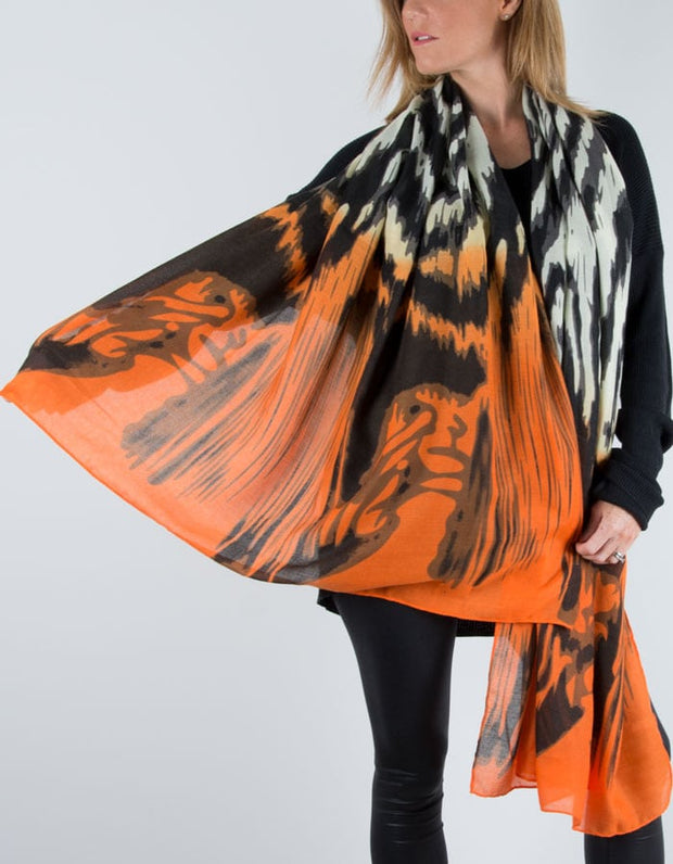 Zebra Print Scarf Orange