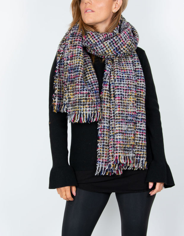 an image showing a black blanket scarf