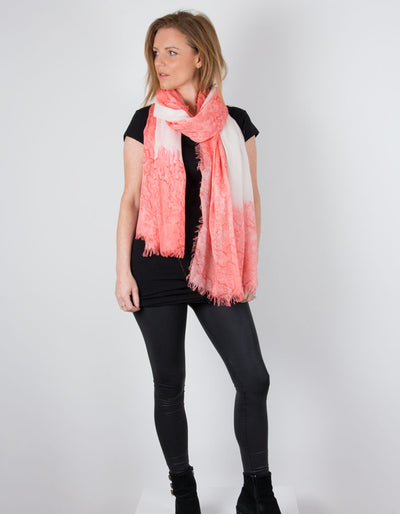 an image showing a Coral Scarf Abstract Detail