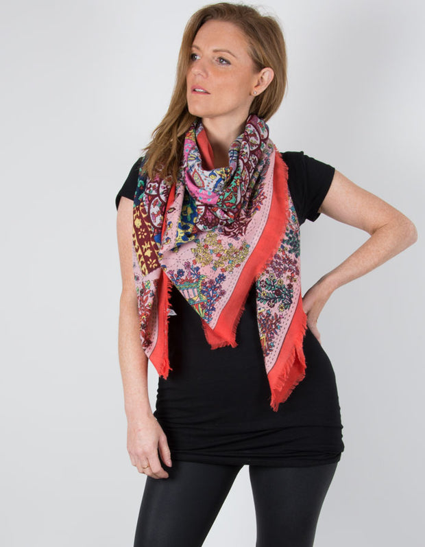 an image showing a Coral Scarf Floral