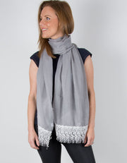 an image showing a Grey Scarf Lace Detail
