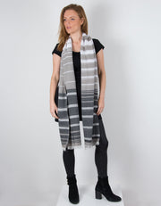 an image showing a Italian Linen Charcoal Grey Scarf