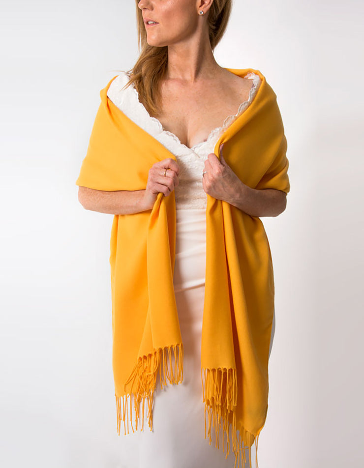 Amber Yellow Wedding Pashmina