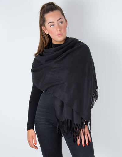 Black Winter Pashmina