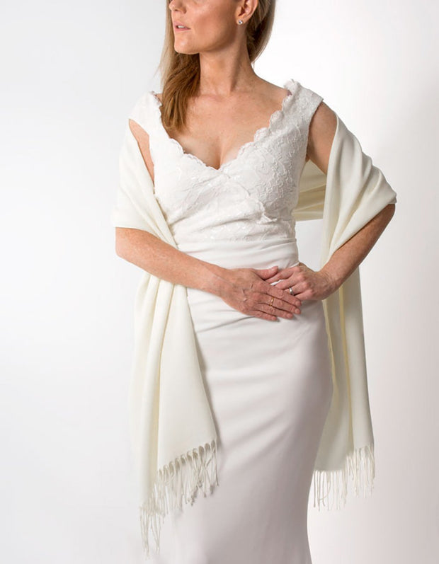 Ivory Wedding Pashmina