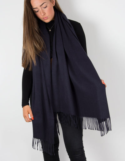 Navy Winter Pashmina