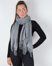 Pale Grey Winter Pashmina