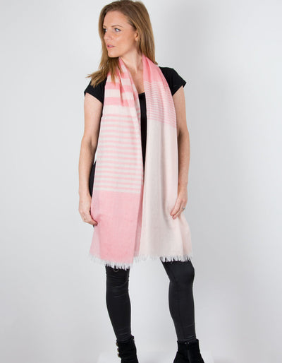 an image showing a Pink Scarf Striped