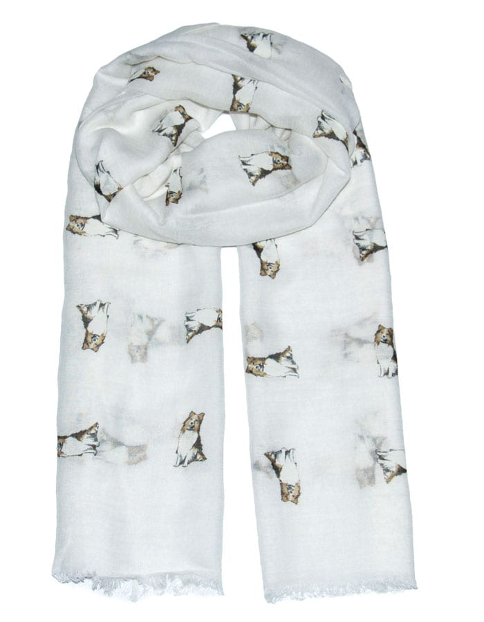 an image showing a dog print scarf