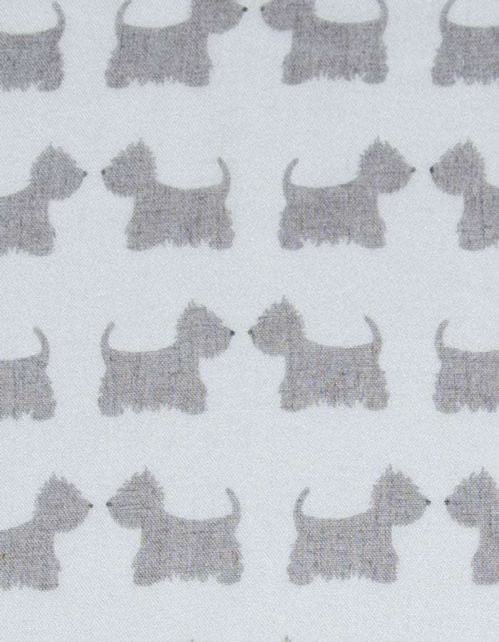 Dog Print Scarf Scotties White