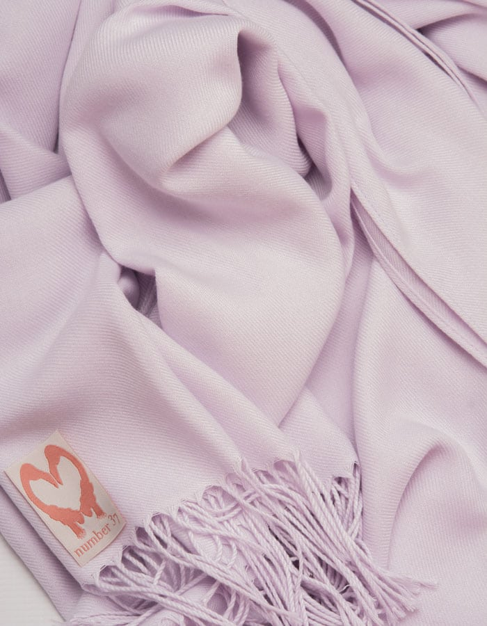 an image showing a close up of a pashmina in Lilac