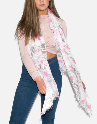 an image showing a pink scarf