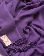 an image showing a close up of a pashmina in Purple