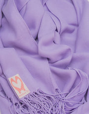 an image showing a close up of a pashmina in Violet Purple