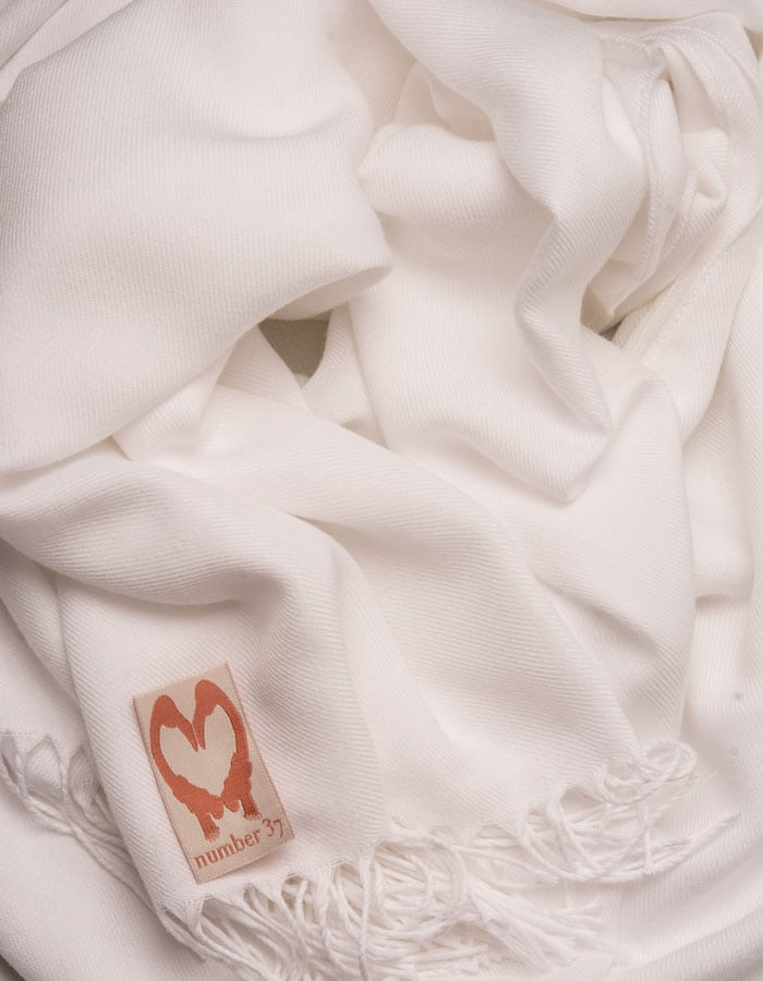an image showing a close up of a pashmina in white