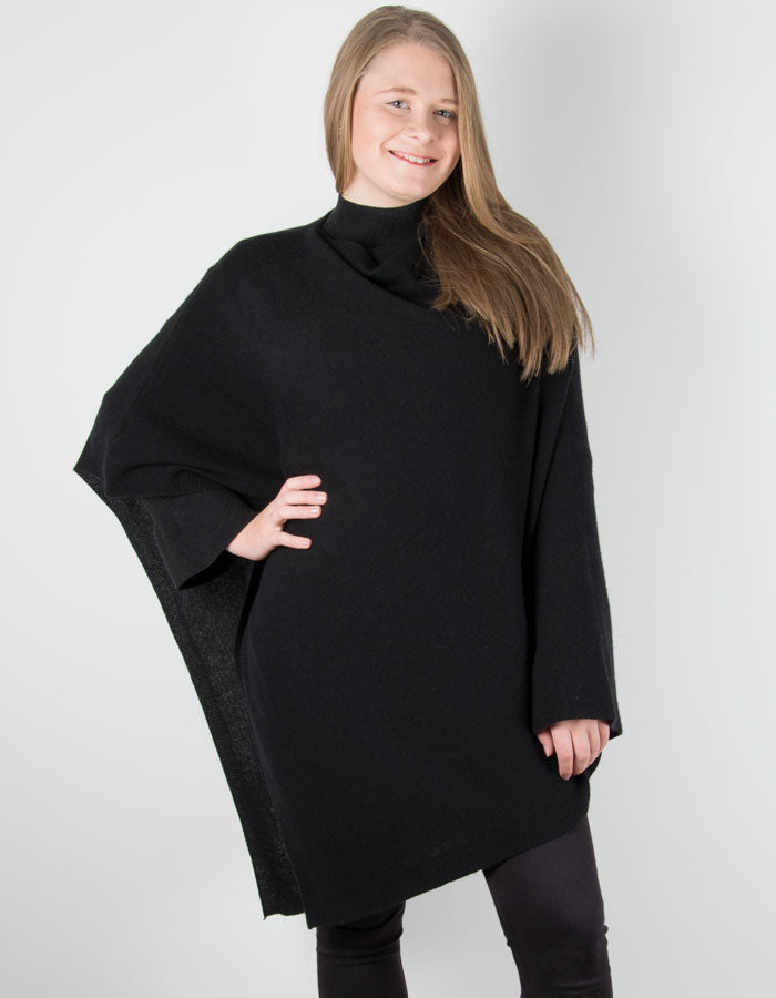 an image showing a black poncho