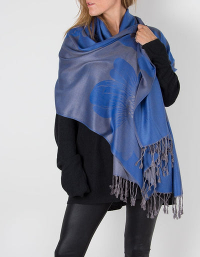 an image showing a blue pashmina