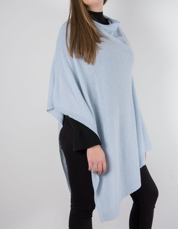 an image showing a baby blue poncho