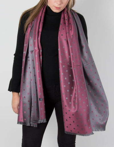 an image showing a Grey Pink Pashmina