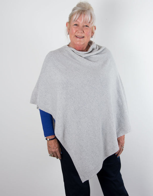 an image showing a grey poncho