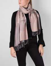 an image showing a pink floral pashmina