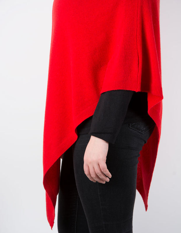 an image showing a red poncho