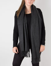 Dark Grey Winter Pashmina